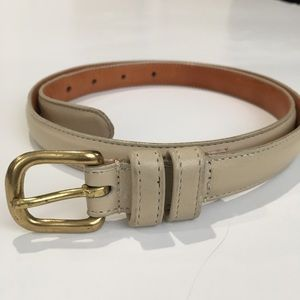 Vintage COACH Bone Colored Belt